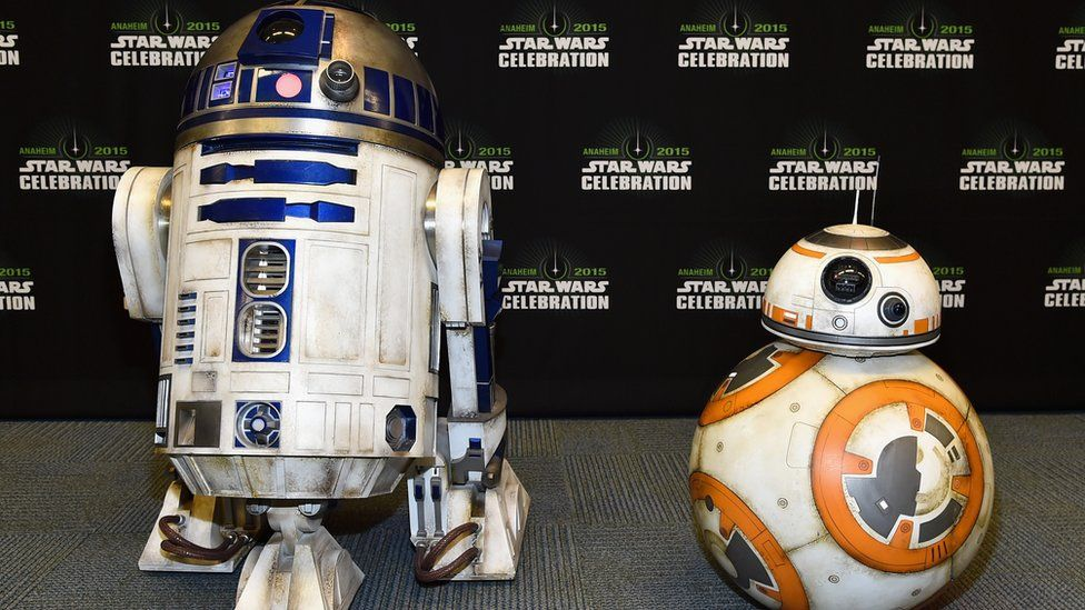 Star Wars' droids R2D2 and BB8