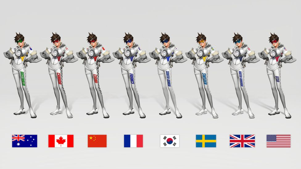 Flags of countries in the Overwatch world cup
