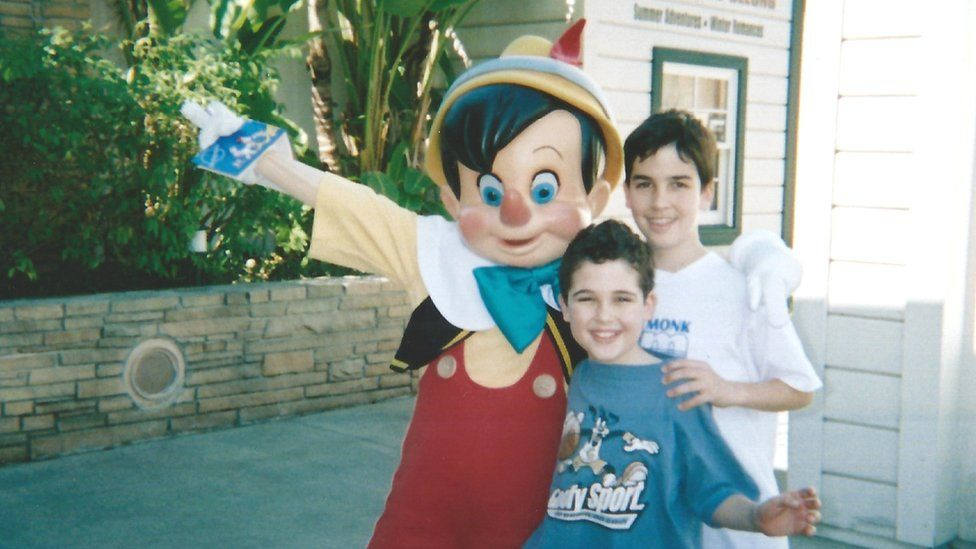 Owen with his older brother Walter at Disneyland