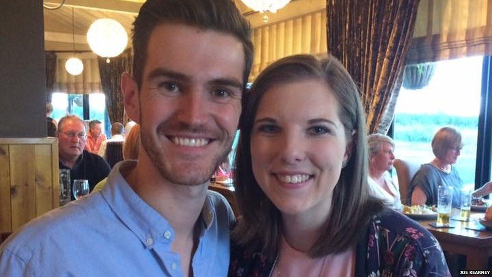 Joe with his girlfriend