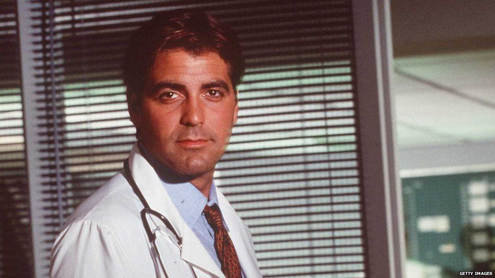 George Clooney as Dr Doug Ross in the TV series ER
