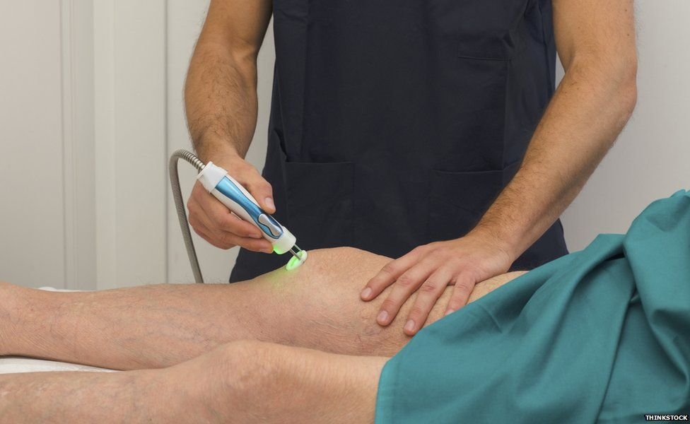 Laser used for physiotherapy treatments
