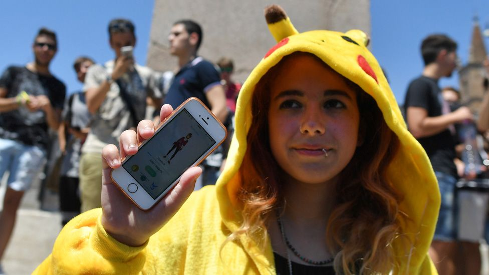 Pokemon Go player in a Pikachu suit
