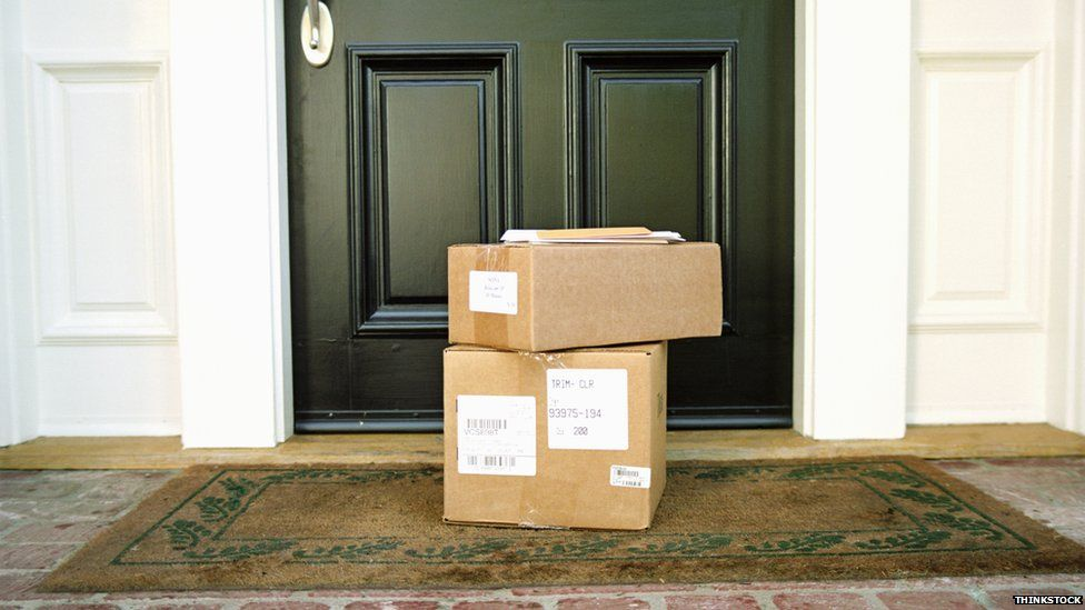 boxes on doorsteps