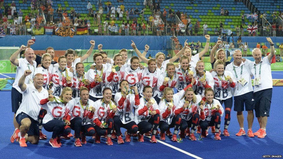 Team GB's Hockey Team win gold in Rio