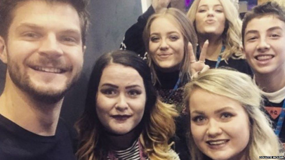 Collette and her sister Clare met YouTubers Jim Chapman, twins Lucy and Lydia and lookingforlewys