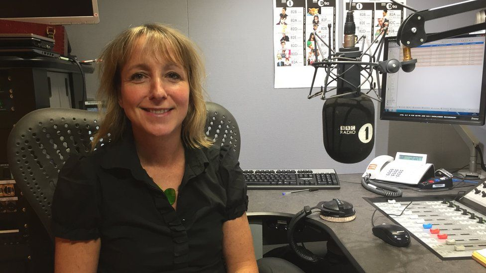 Dr Anna Waters in the Newsbeat studio