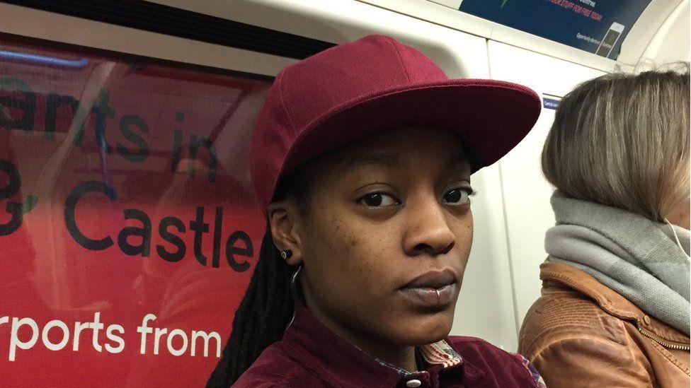 Dee, a passenger on the London Underground