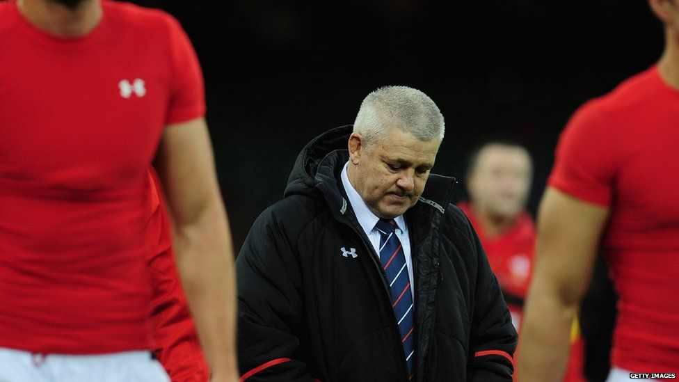 Warren Gatland looking gutted