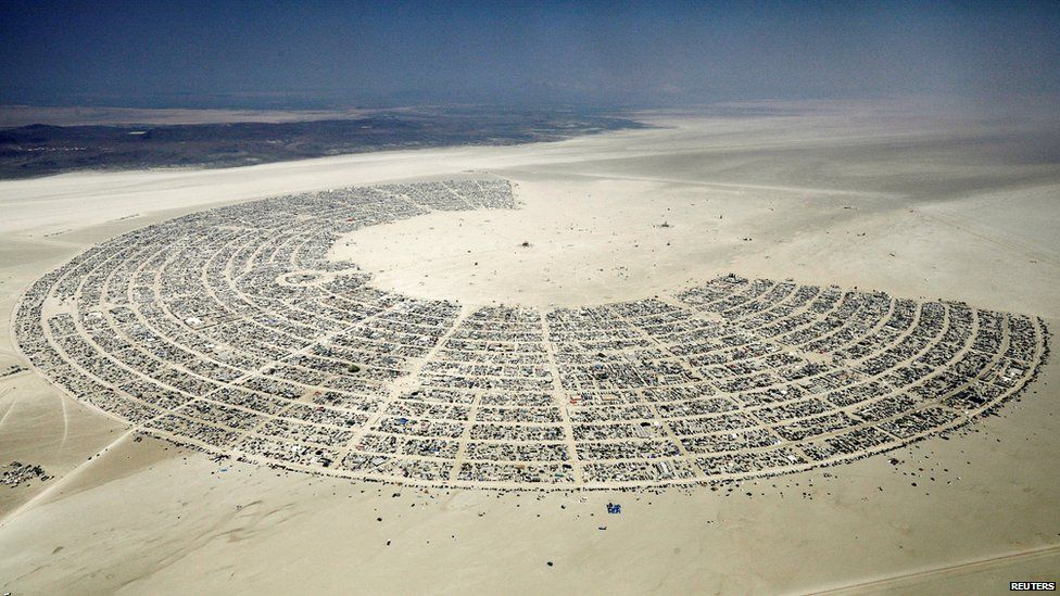 Tents at Burning Man Festival