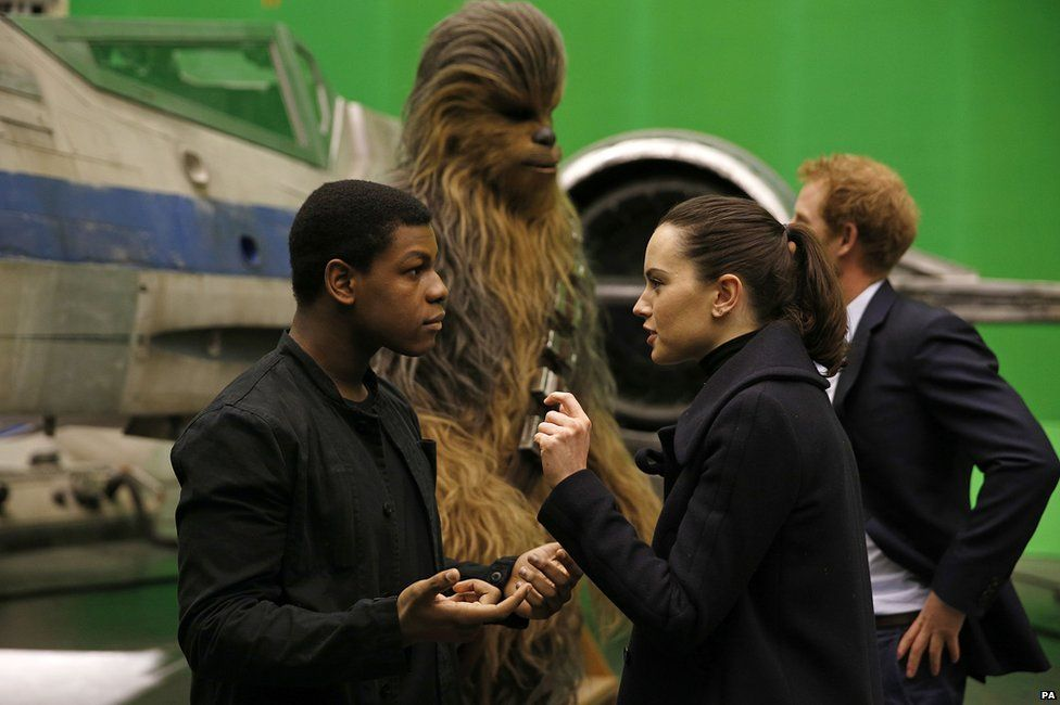John Boyega, Daisy Ridley and Prince Harry