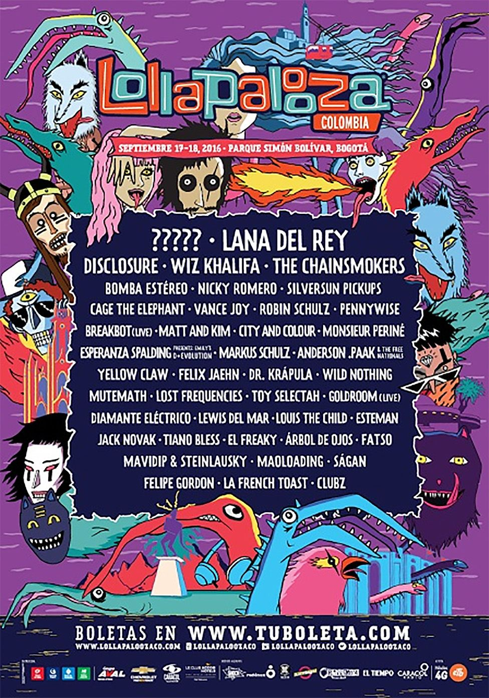 Lollapalooza line-up
