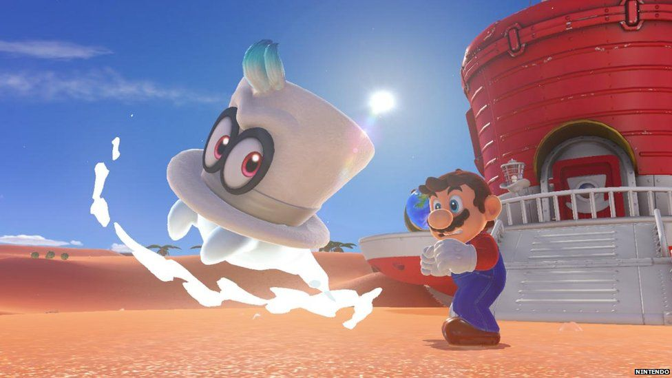 A still from the new Super Mario game
