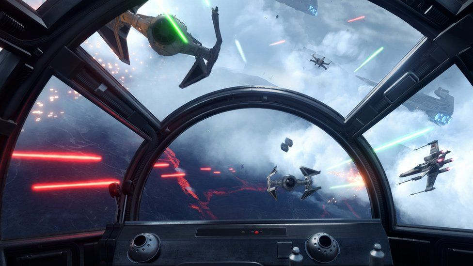 inside a cockpit in a fight