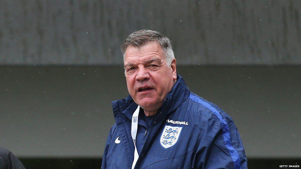 Sam Allardyce training with England
