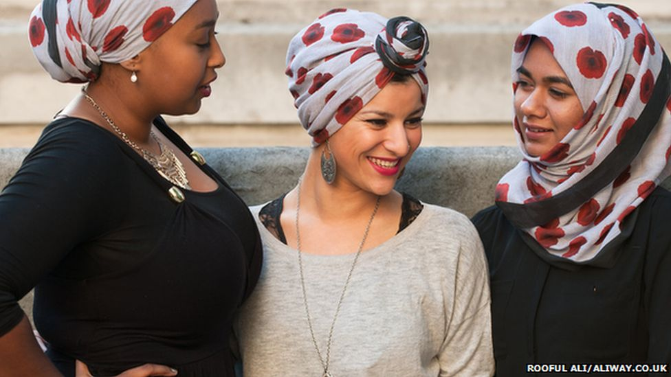 Pictures of the poppy hijab