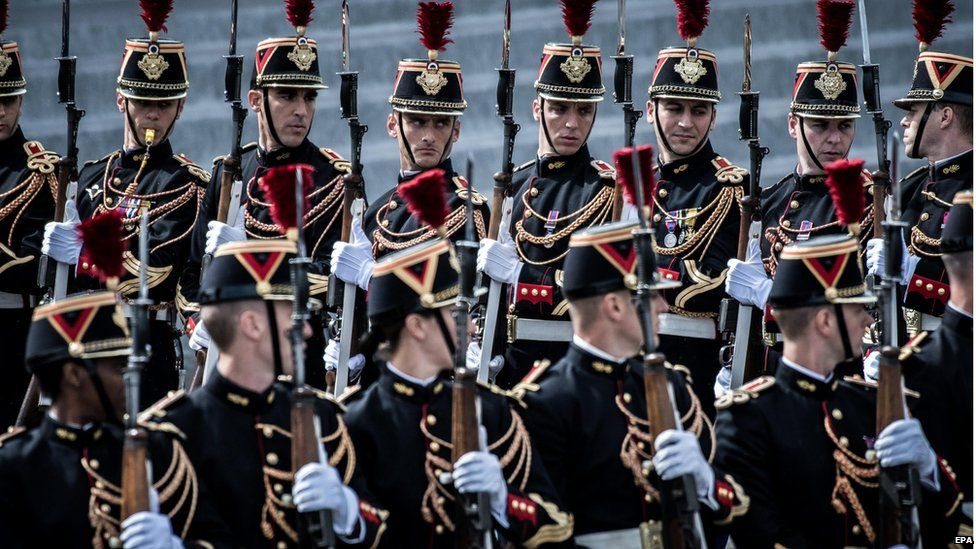 French guards at Bastille Day parade