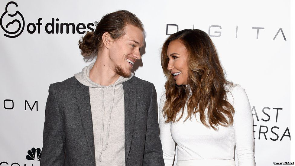Ryan Dorsey and Naya Rivera in 2015
