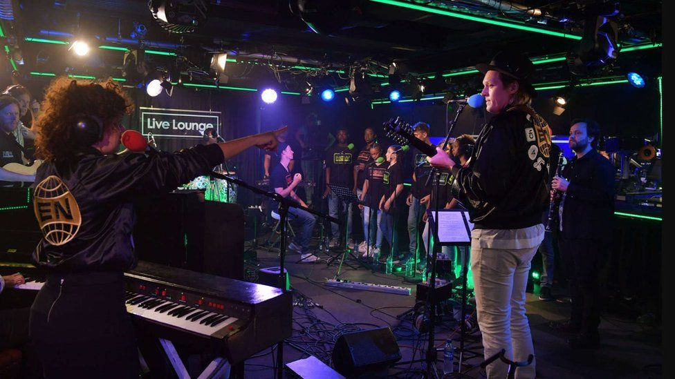 Arcade Fire in the Radio 1 Live Lounge