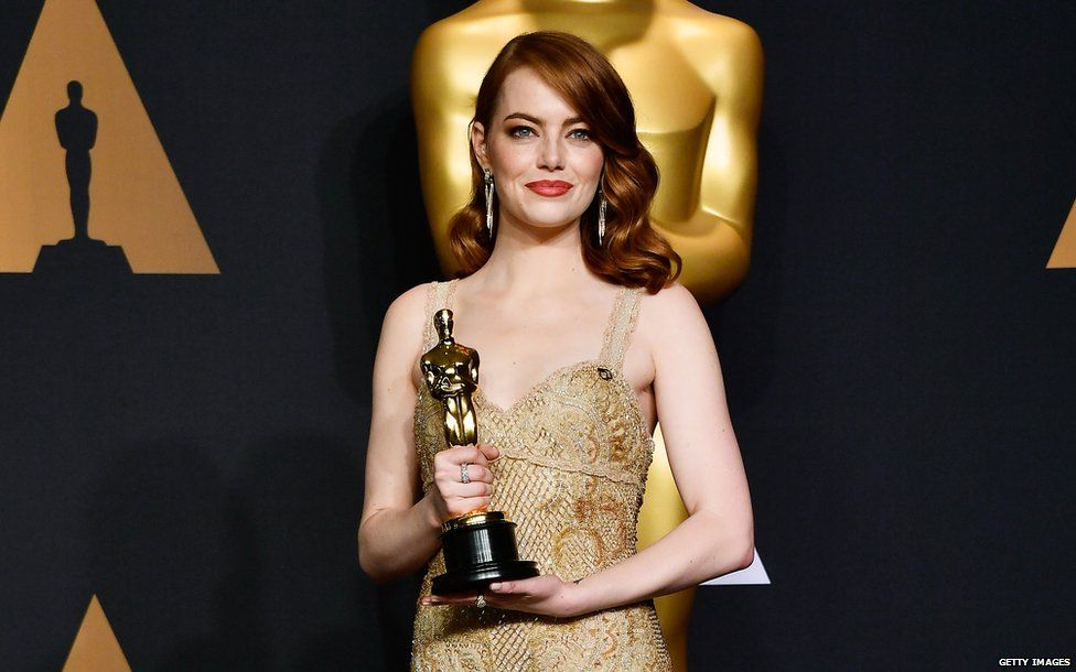 Emma won the best actress award at this year's Oscars for her role as Mia in La La Land