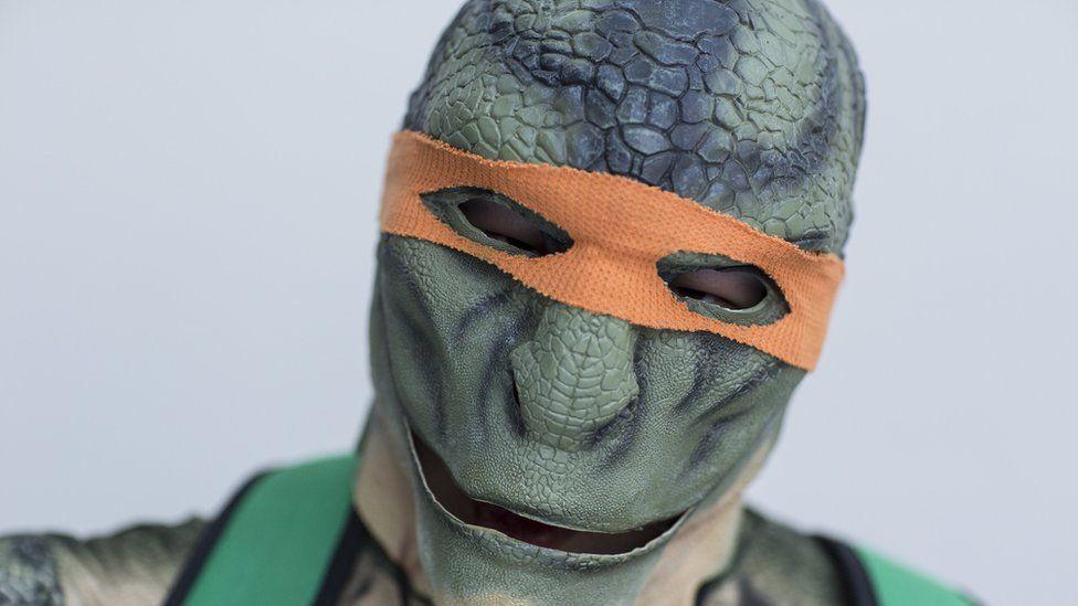 Michelangelo from Teenage Mutant Ninja Turtles costume at New York's Comic Con