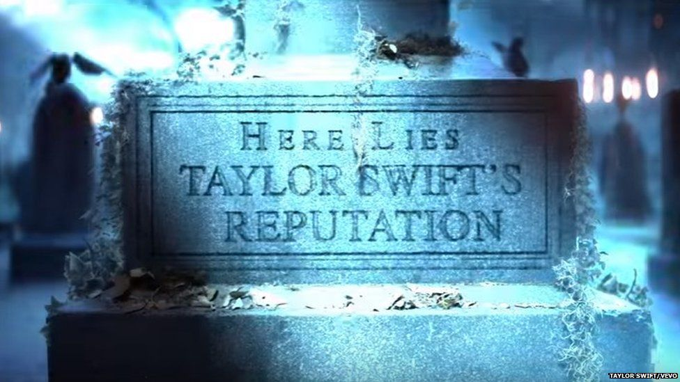 Taylor Swift's mock headstone