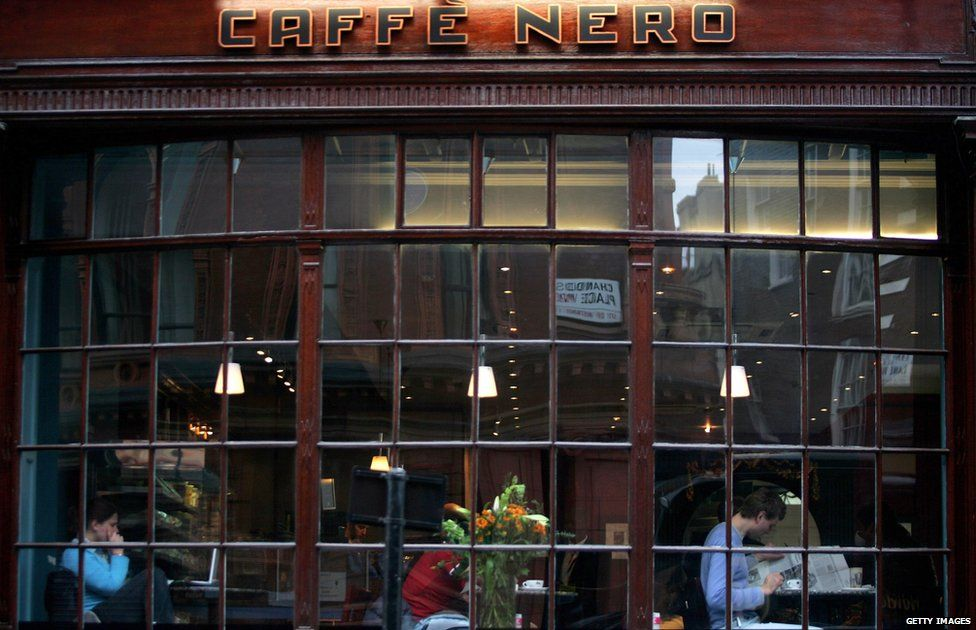 Front of a Caffe Nero store