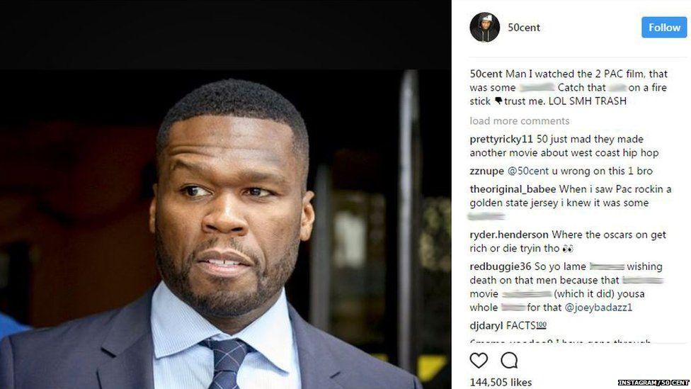 50 Cent's Instagram post.