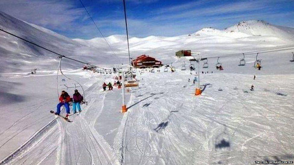 Tochal ski resort near Tehran