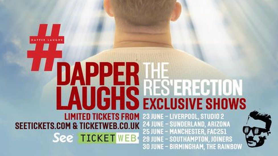 Dapper Laughs tour poster