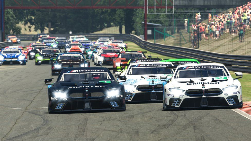 The BMW Sim 120 Cup race in virtual Sao Paulo