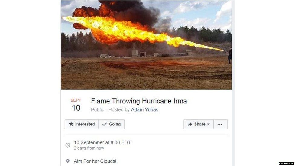 Florida Facebook campaign to shoot Hurricane Irma goes viral