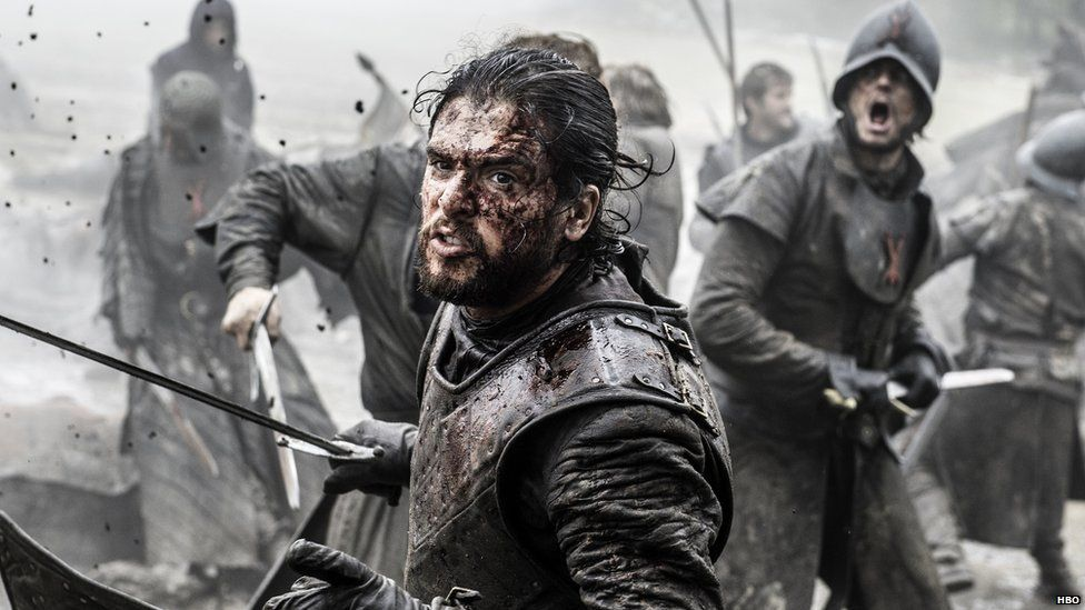 Jon Snow in battle
