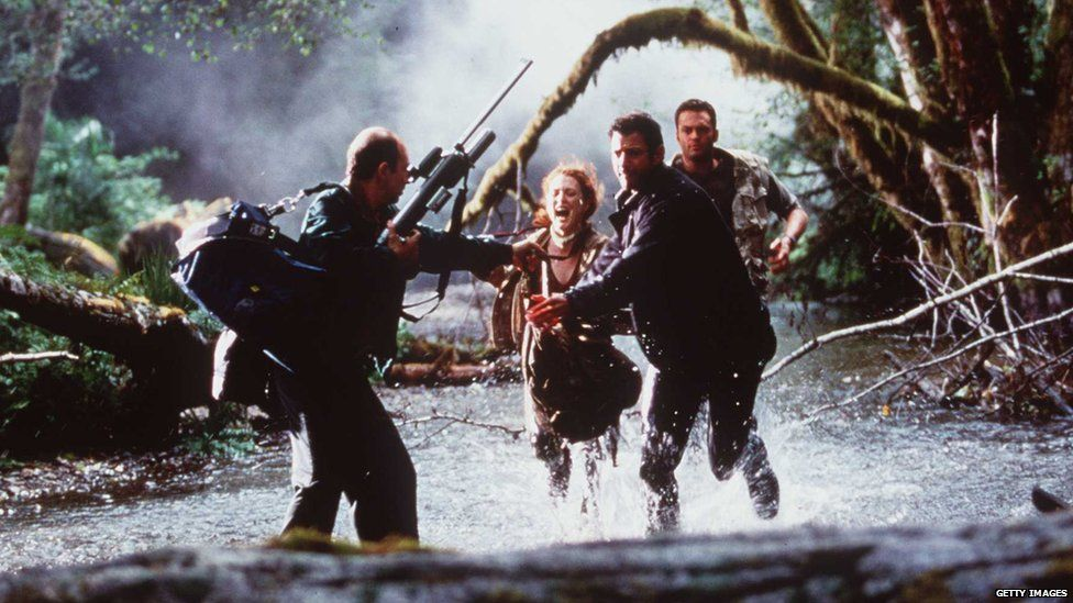 Scene from The Lost World: Jurassic Park, featuring Jeff Goldblum