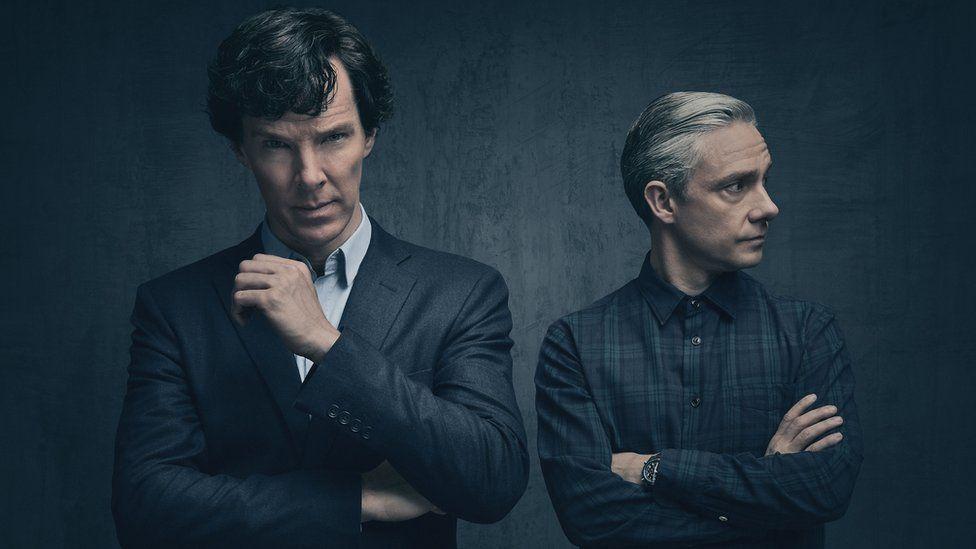 Benedict Cumberbatch as Sherlock and Martin Freeman as Dr John Watson
