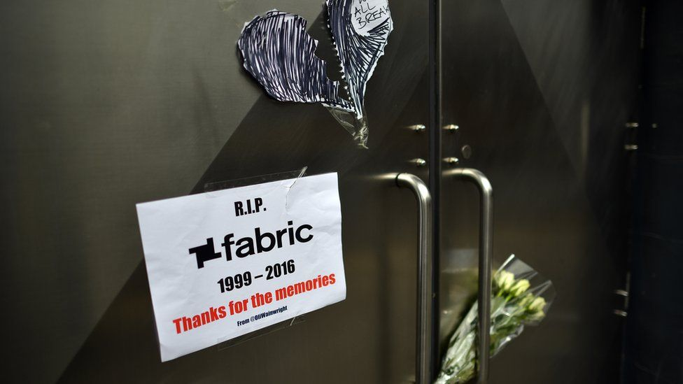 Fabric nightclub's doors
