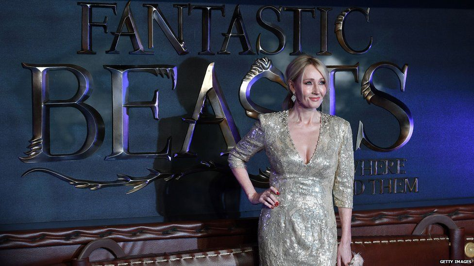 JK Rowling at the 2016 Fantastic Beast ad where to find them Premiere
