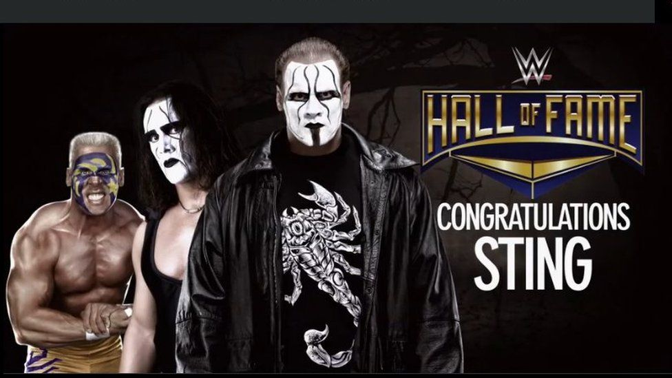 sting retires from wwe after making the hall of fame bbc newsbeat