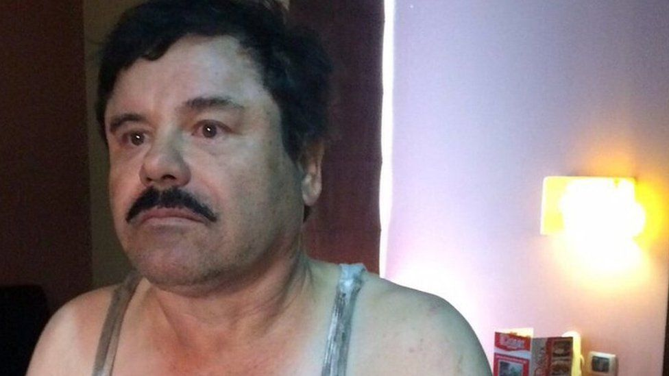 Mexican authorities released this photo of Joaquin Guzman after his arrest in a hotel room