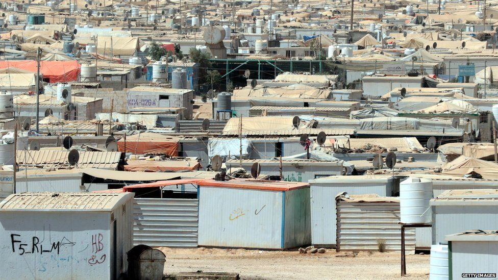 A general view shows the UN-run Zaatari camp for Syrian refugees, north east of the Jordanian capital Amman