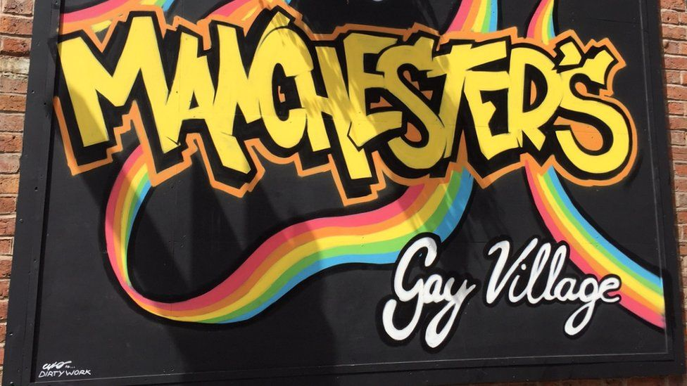 A mural from Manchester's Gay Village
