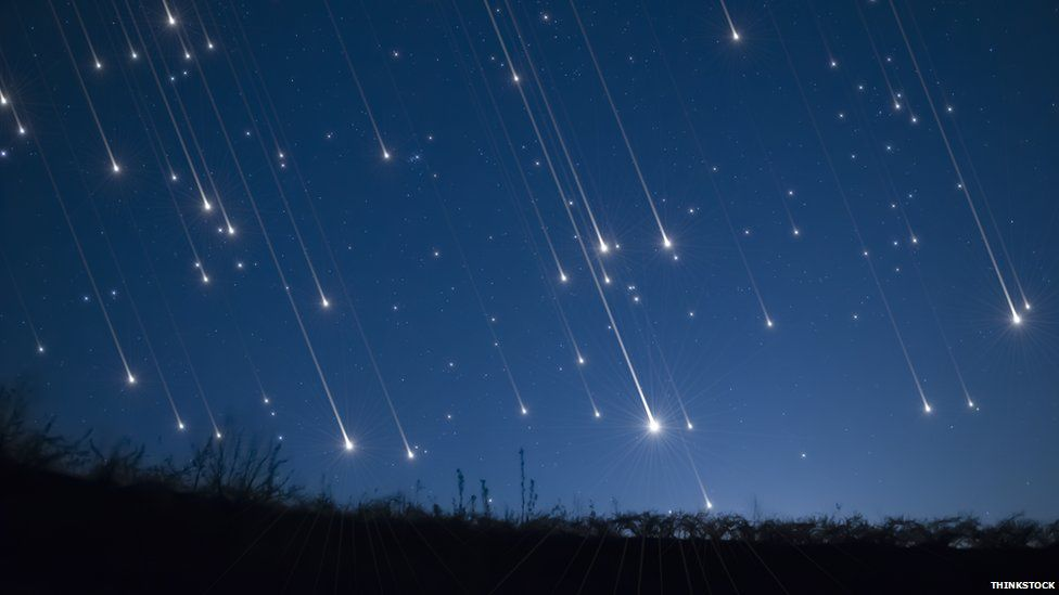 Meteors raining fiery death upon the earth and all who dare to stand on it