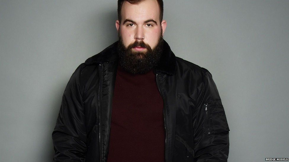 Ben was the first of three, male plus-size models to be signed by Bridge Models