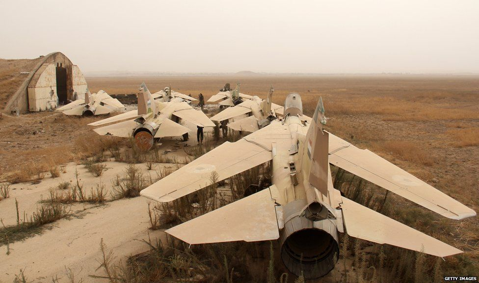 Former Syrian army fighter jets