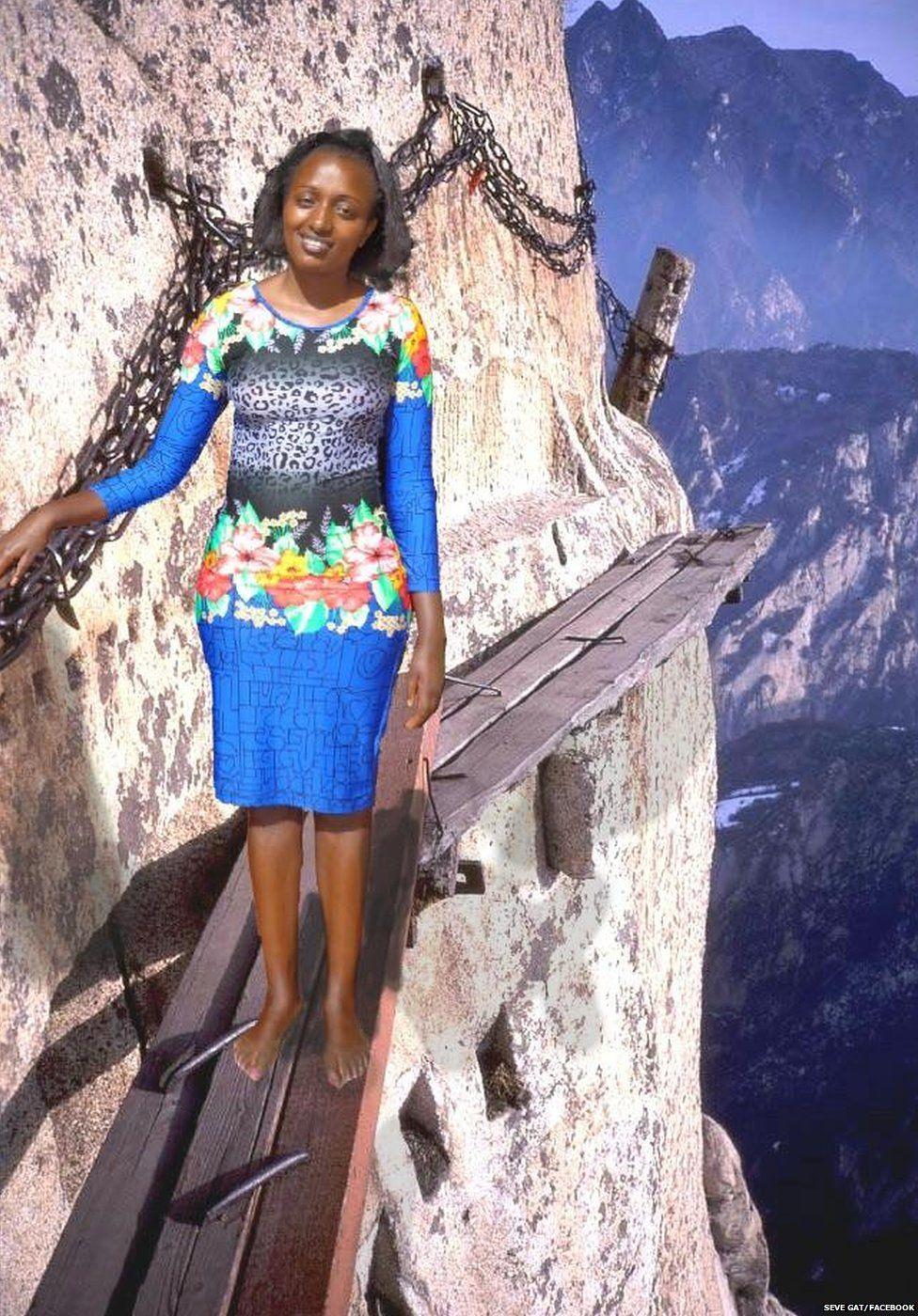 Kenyan woman edits herself into holiday photos with hilarious consequences