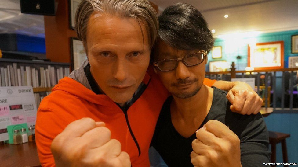 Hideo Kojima with one of the stars of his next title Death Stranding, Mads Mikkelsen