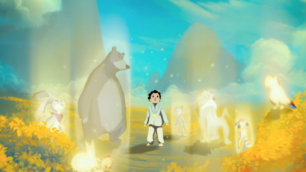 A still from Life, Animated