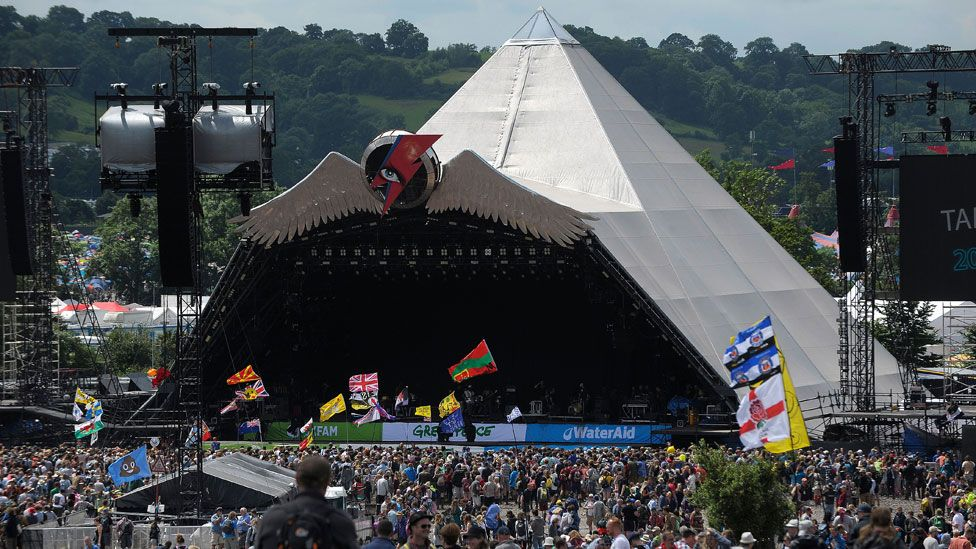 Glastonbury's Pyramid Stage in 2016