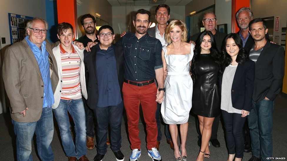 The cast and crew of Modern Family