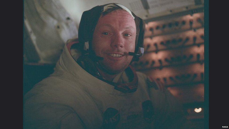 Neil Armstrong after the landing